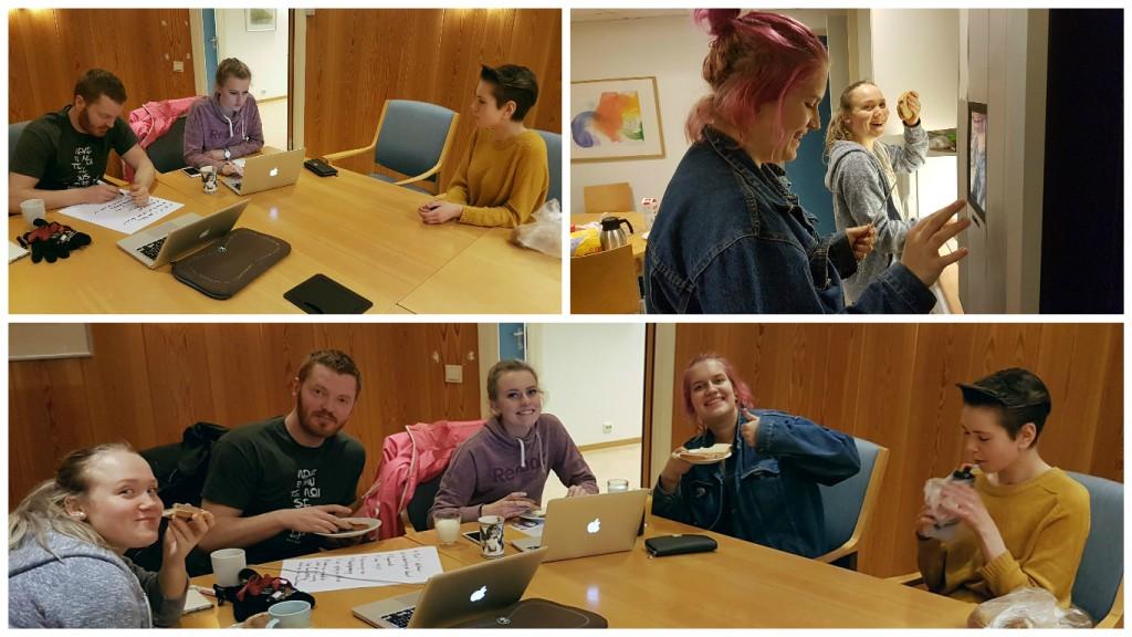 UKM gjengen: Bilde nederst fra venstre: Jorid, Erlend, Maren, Inga og Ben. (Robin var ikke tilstede da bildet ble tatt.)
