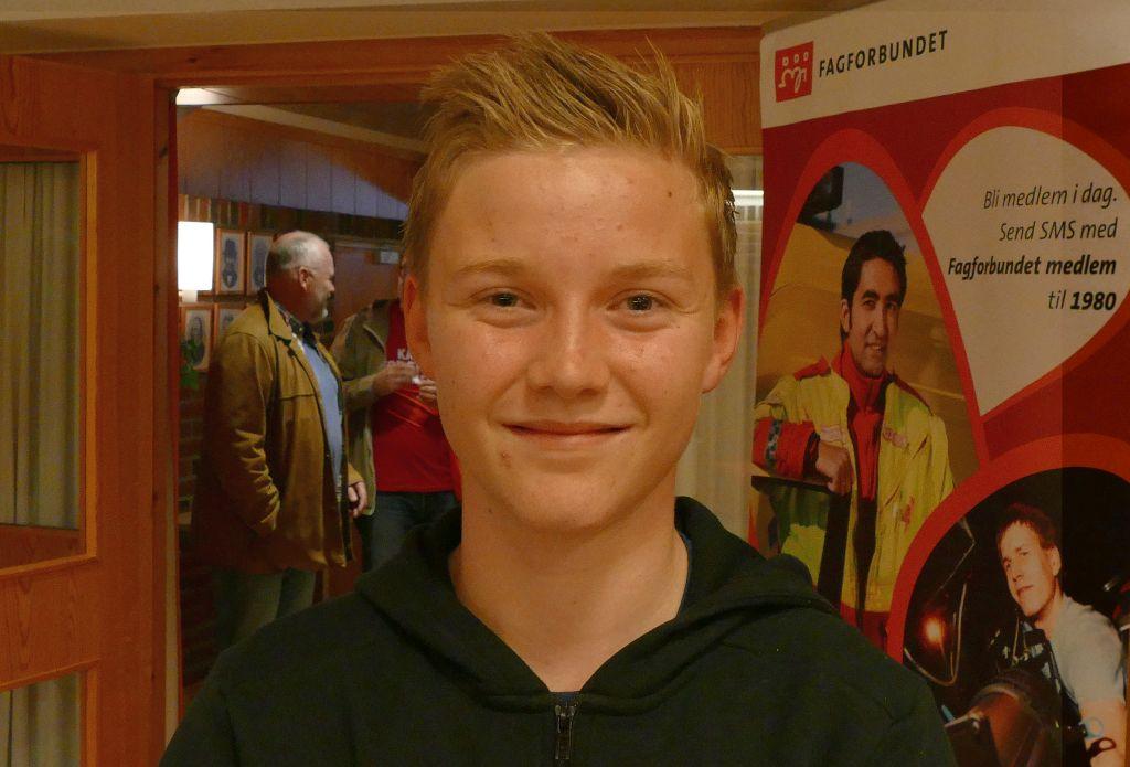 Vegard Sem (13) fra Buvika utfordret politikerne om politireformen.
