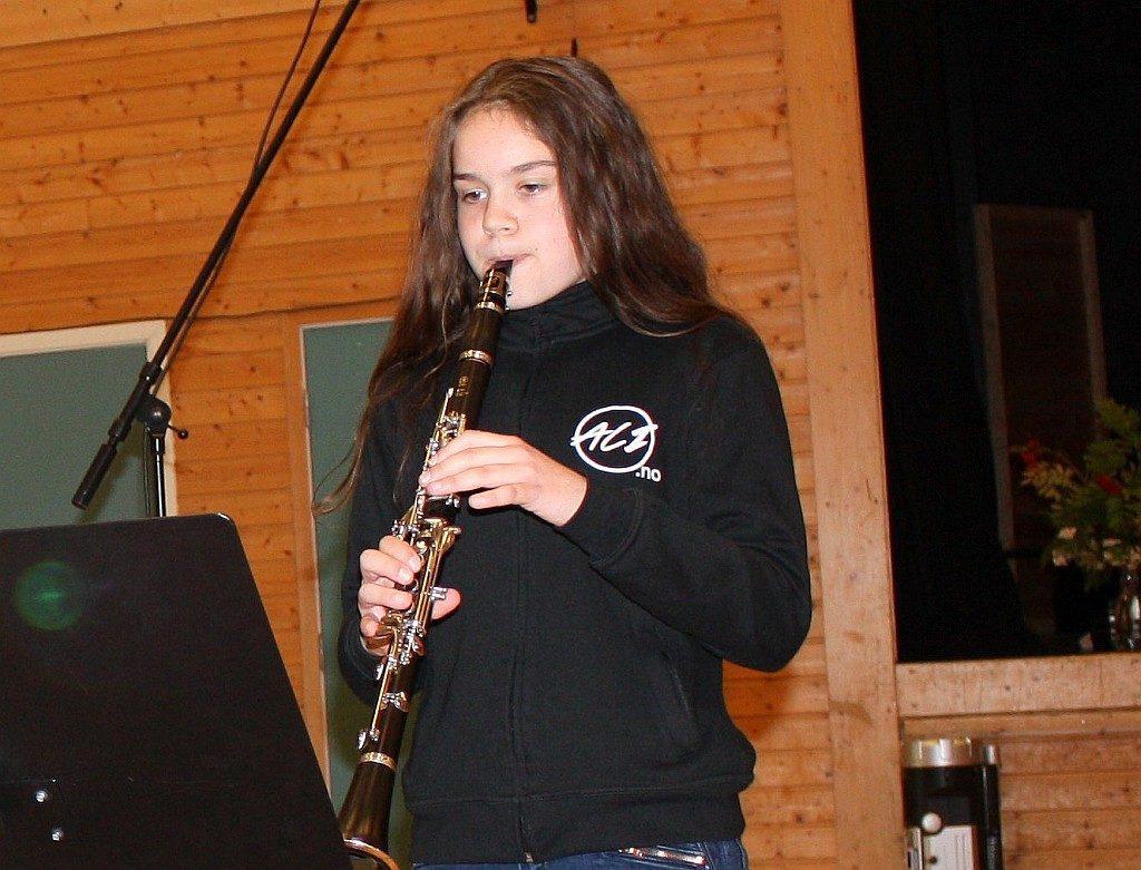 Lene Kvam spiller klarinett