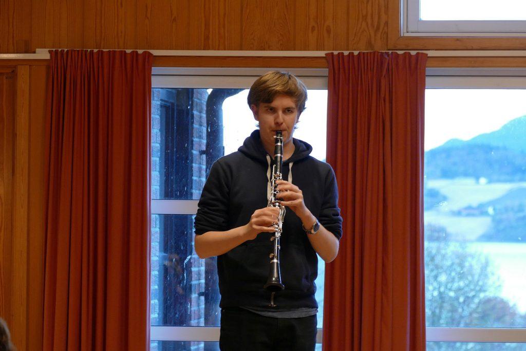 Kristian Bøkseth spilte klarinett.