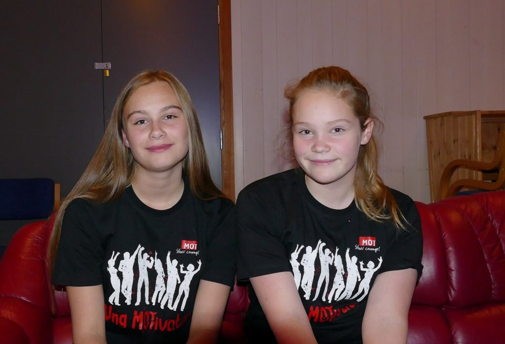 (f.v) Marie og Inger Kristine er to av åtte nye MOTivatører i Skaun kommune.