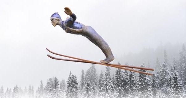 Bilde med tema skihopp tatt av Trond Are Berge (Plakatfoto)