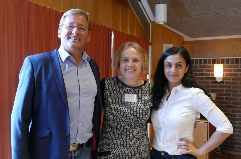 Ap's stortingsrepresentant fra Trøndelag; Jorodd Asphjell, leder for Skaun Ap; Siri Grøttjord og nestleder for Arbeiderpartiet; Hadia Tajik.